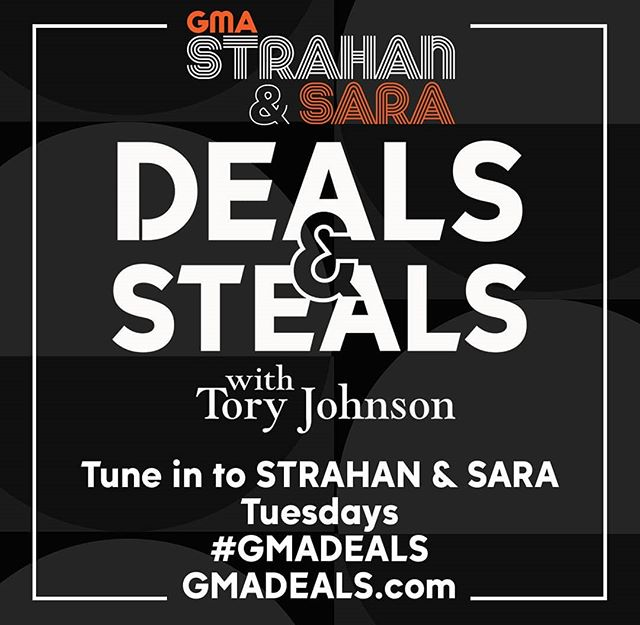 SANS will be featured today on GMA's Strahan & Sara show with Tory Johnson. Tune in at 1pm EST for special deals!