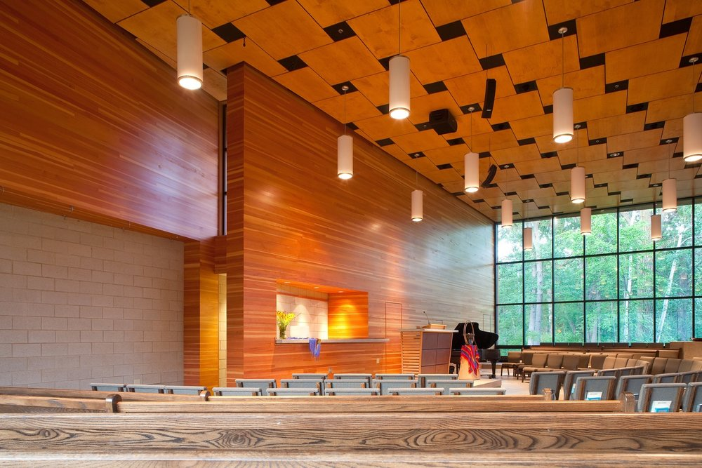 White Bear Unitarian Universalist Church expansion, designed by   Locus Architecture
