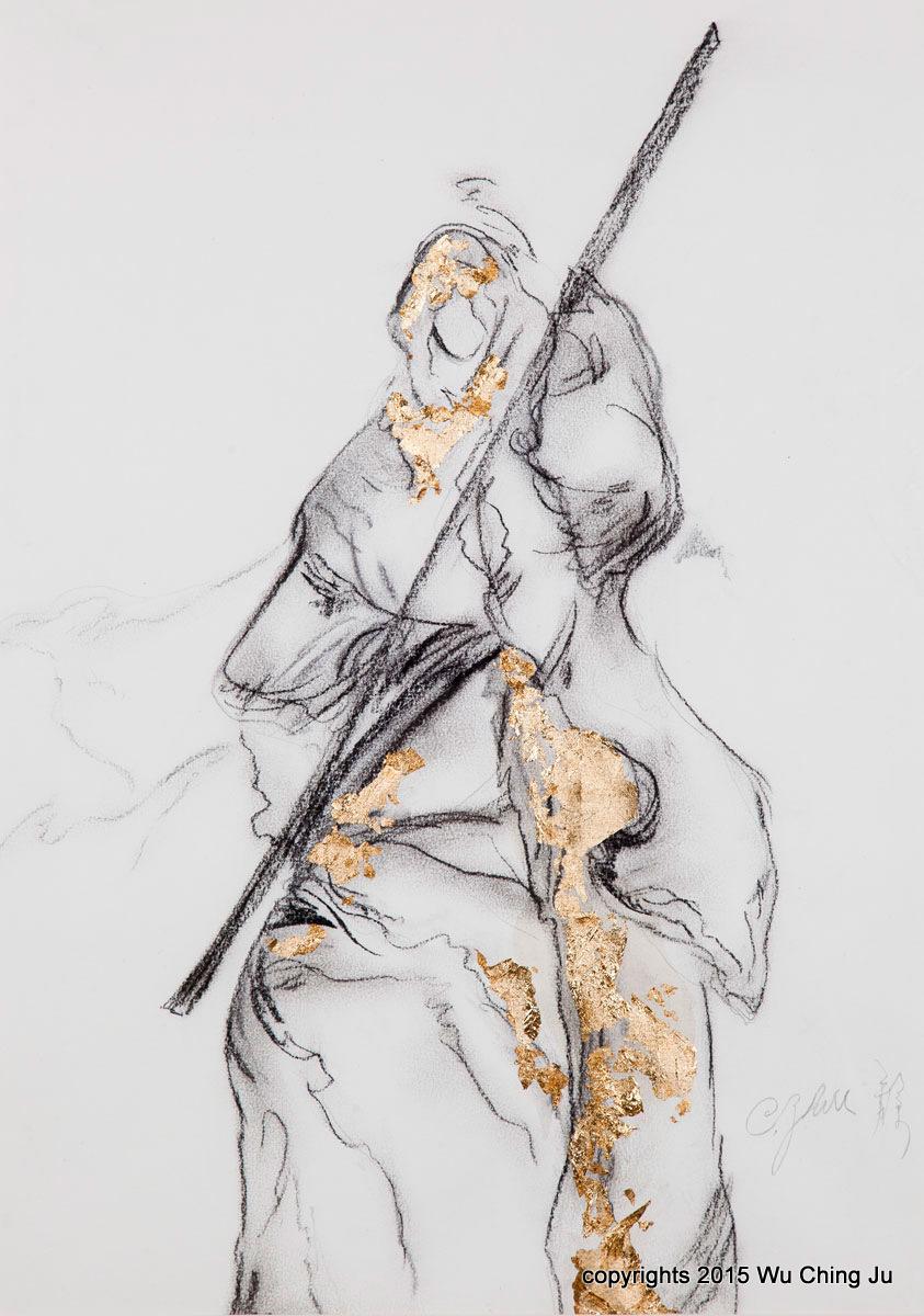 Print of a sculpture study