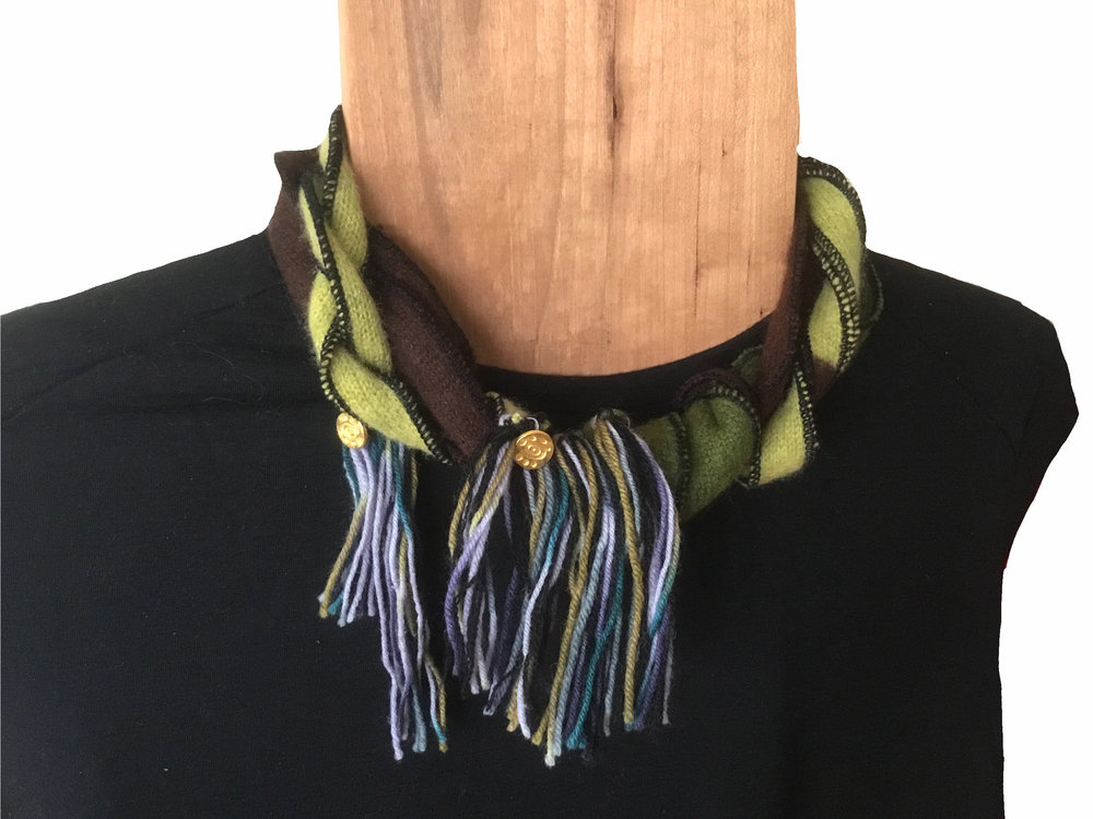 Green Tonal Neck w fringe on mannequin.jpg