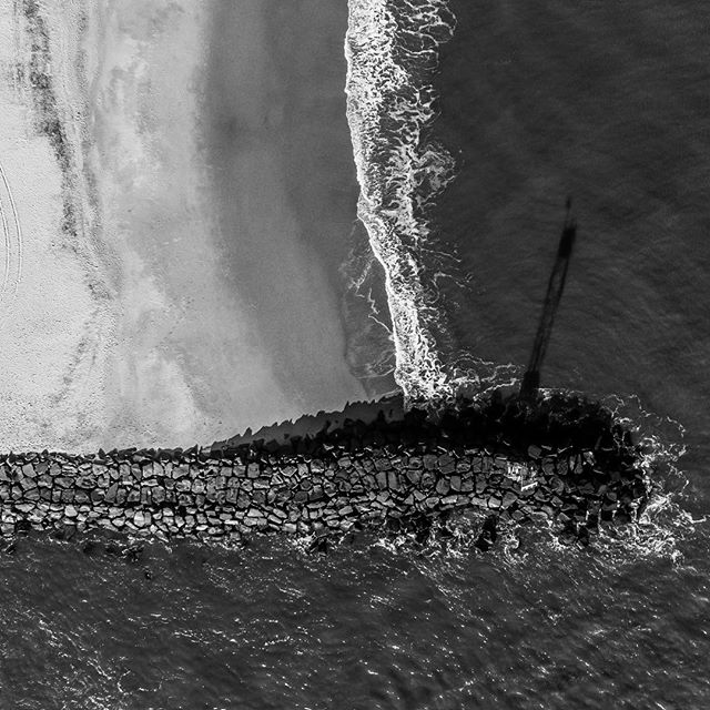 An aerial from the rock jetty at the OC inlet.