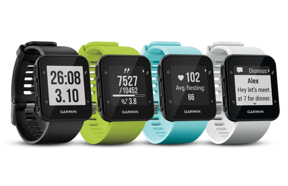 The Garmin Forerunner 35 comes in these great colors!
