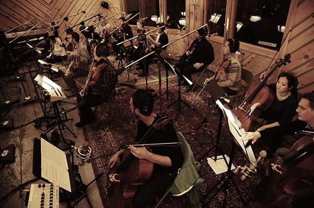 Tracking strings last week for the record.  Best possible end to a very long recording process.  #recordingstudio #strings #cello #violin #viola #orchestra #musician #recording
