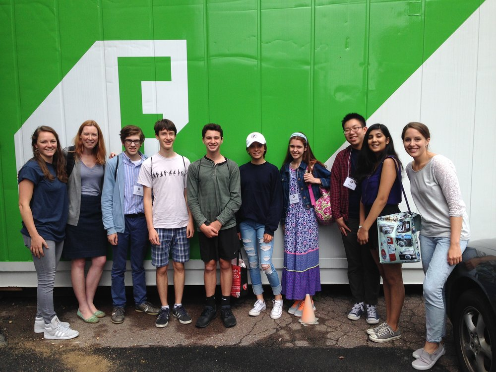 social impact field trip to freight farms - a company founded in boston that has built the world's first hydroponic shipping container farm.