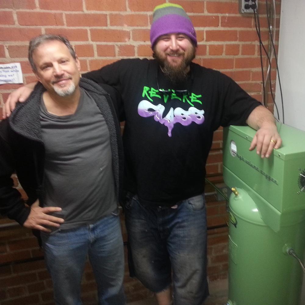 Marc with Dustin Revere in Berkeley