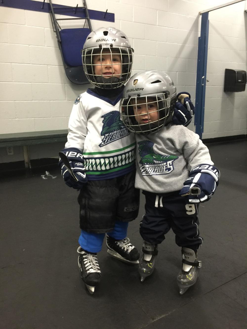Miranda's two boys, Hunter and Jaxson
