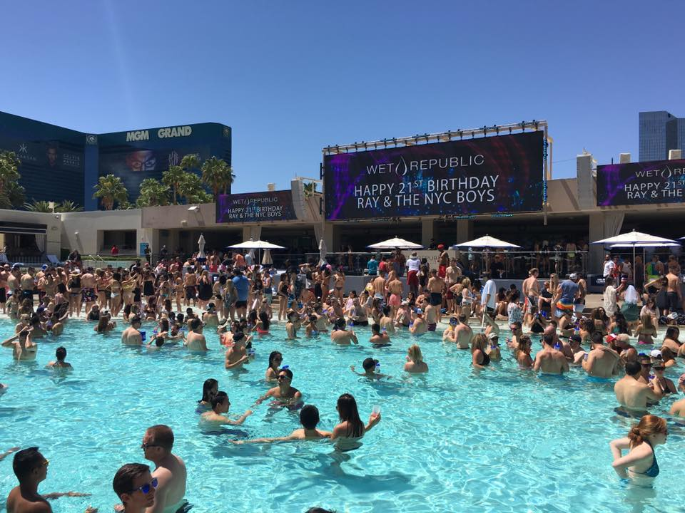 Wet Republic pool party with Steve Aoki