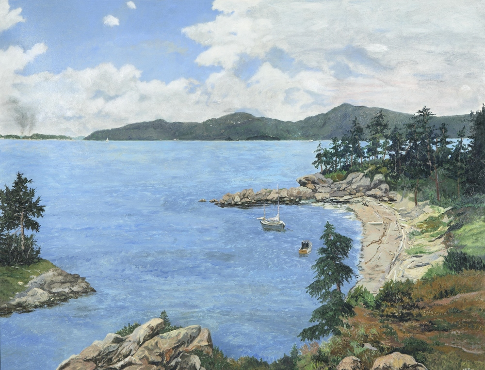 Matia Island, oil on canvas, 42 x 54 inches  Private collection, Boise, Idaho
