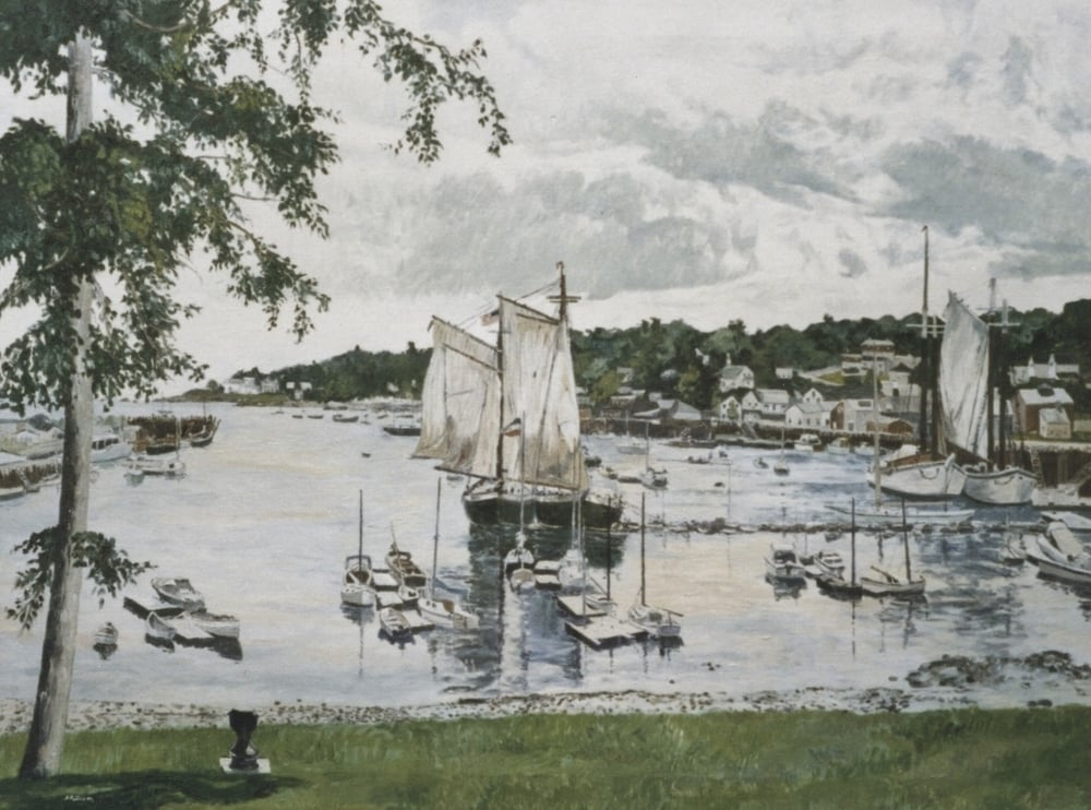 Coastal Schooners, oil on canvas, 30 x 40 inches  Private collection, New York City