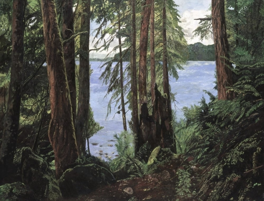 Cypress Island, oil on canvas, 36 x 48 inches Private collection, Bellingham, Washington