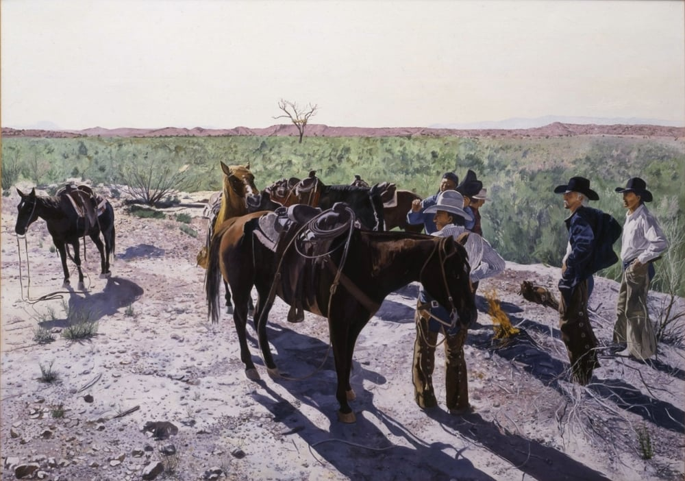 Indian Burial near Fort Laramie, Wyoming, oil on canvas, 60 x 84 inches  Collection of the Nordstrom Corporation, Seattle, Washington