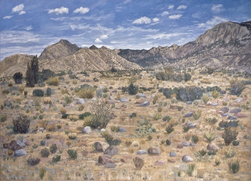 Sandia Mountains, oil on canvas, 52 x 72 inches Collection of Illinois Bell Telephone, Chicago, Illinois