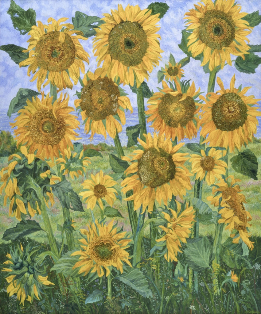 The Great Sunflowers, oil on canvas, 66 x 55 inches
