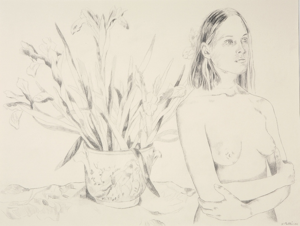 Entry of the Bride, graphite on Arches paper, 17 x 22.5 inches