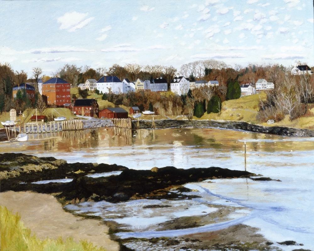 Rockport Harbor, Maine, oil on canvas, 26 x 32 inches  Private collection, New York City