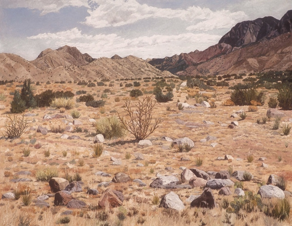 Sandia Mountains, oil on canvas 42 x 54 inches Private collection, Seattle, Washington
