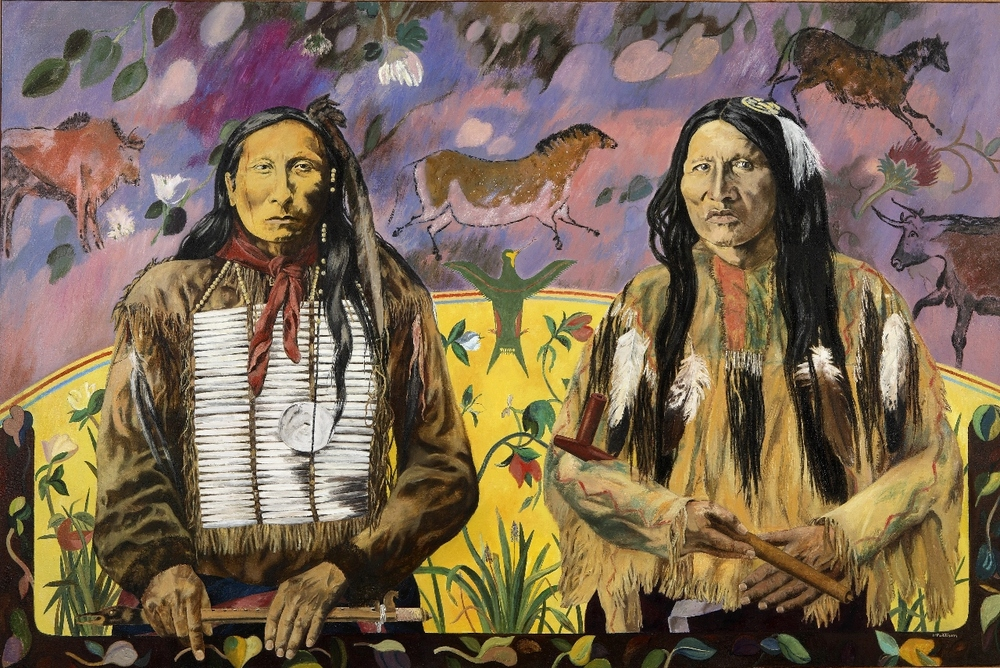 Lakota Ghost Dance Apostles, oil on canvas, 50 x 84 inches