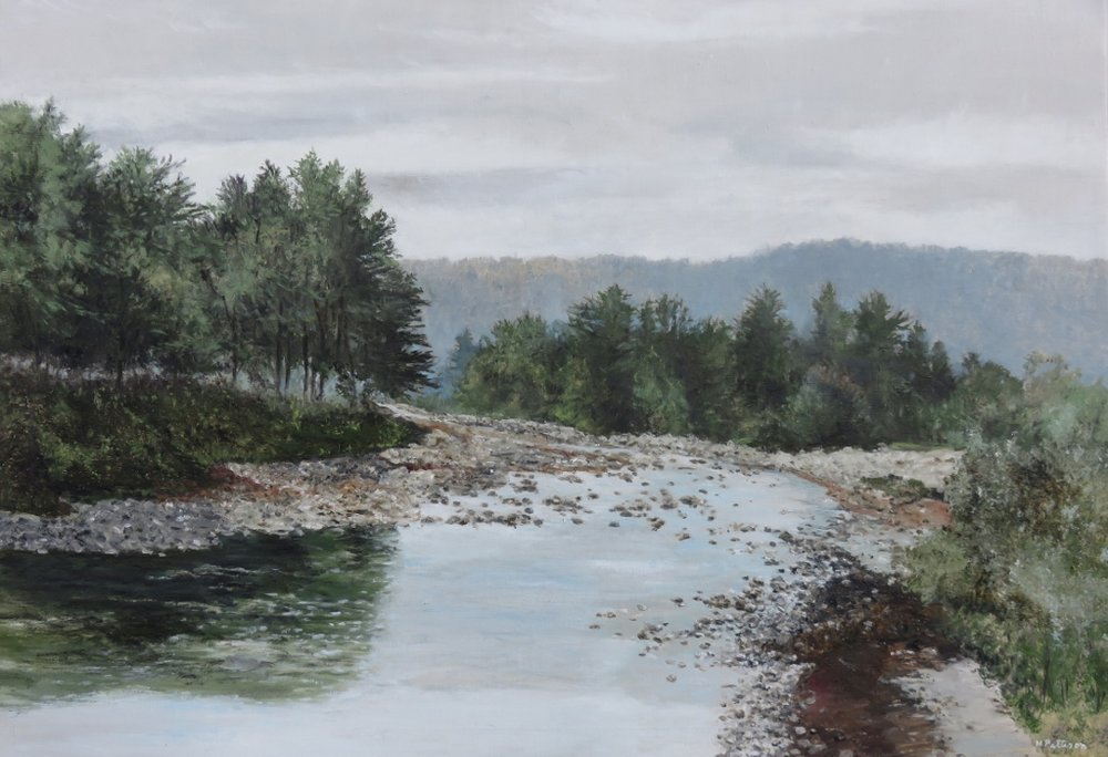 The Nooksack River, oil on linen, 22 x 29 inches