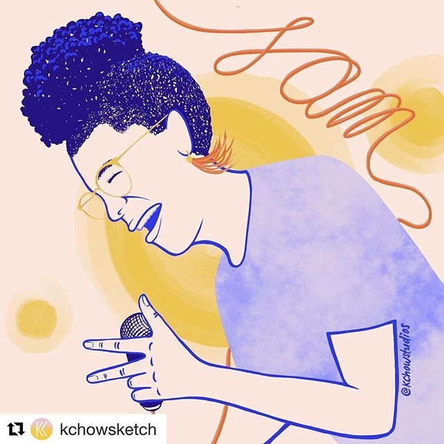 Aww, shucks! Grateful for this project, and the dreamboat responsible! Feels like me. 💛💙🧡 #Repost @kchowsketch ・・・ Starting a new project featuring women that inspire me creatively as an exercise to get me out of a creative winter funk. . Today's feature is a fellow Philly artist @samantharise her joyful energy in a room is contagious whether she's on stage singing or enjoying the music with you. Her passion for music and community enrichment is inspiring. I would like to highlight her role as program director of @girlsrockphilly what an amazing mentor and powerful voice to help guide generations to come! . . . #femalefolk #bossbabe #womenempoweringwomen #girlsjustwannaweekend #musiclovers #newportfolksketch #phillyartist #phillymusic #procreate #thepeoplephilly #kchowstudios #wcw