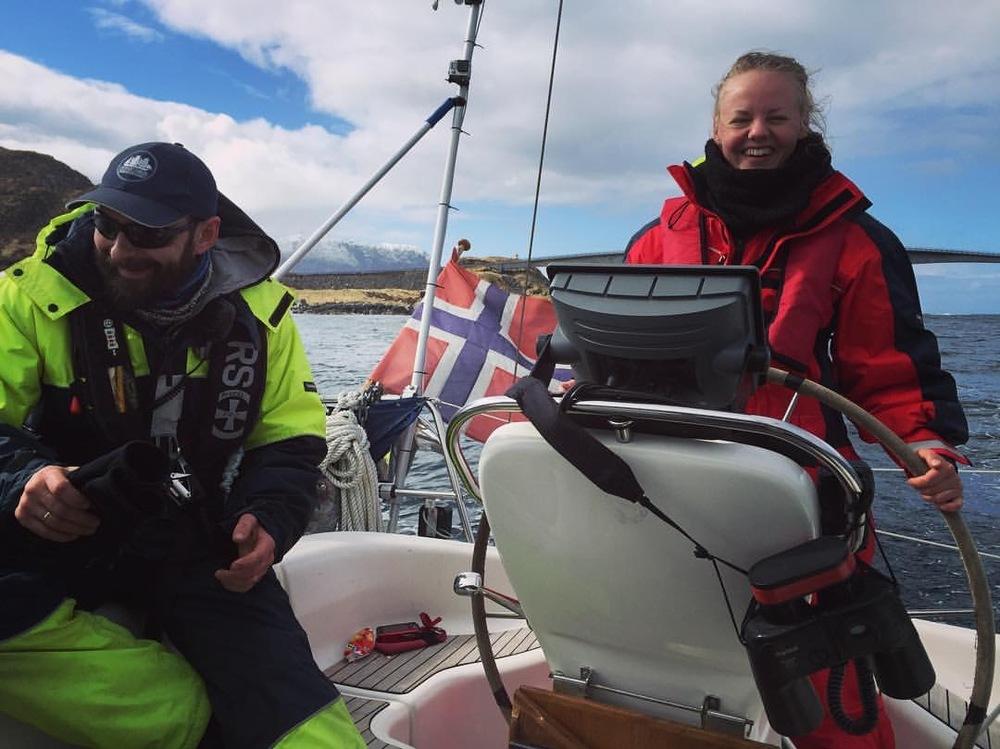 Skipper Anders og matros Gryt etter vel gjennomført seilas.
