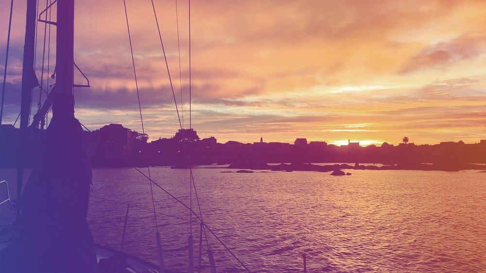 Rolig ankring i Illa de Arousa