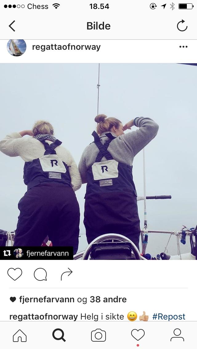 Selv om vi ikke kan noe særlig om sjøen, syns vi selvfølgelig det er helt på sin plass at Regatta har valgt å bruke  oss  som utvalgte representanter på Instagram.
