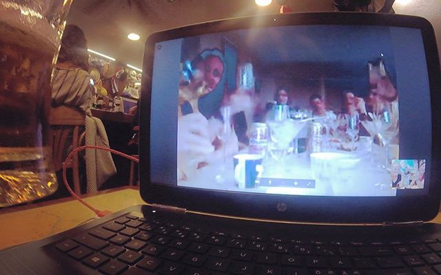 Birthday dinner with all our favs live from Norway 💖💖💖 #kapteinkreyberg #29