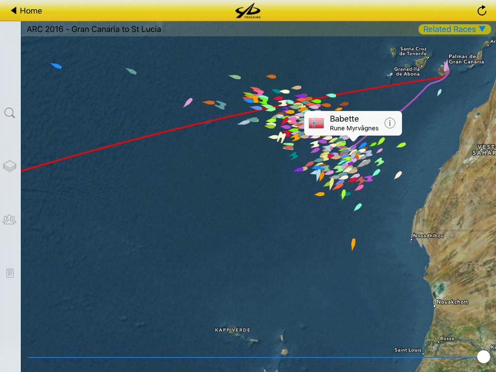 YB Races lar oss følge ARC-vennene våre over havet, minutt for minutt.