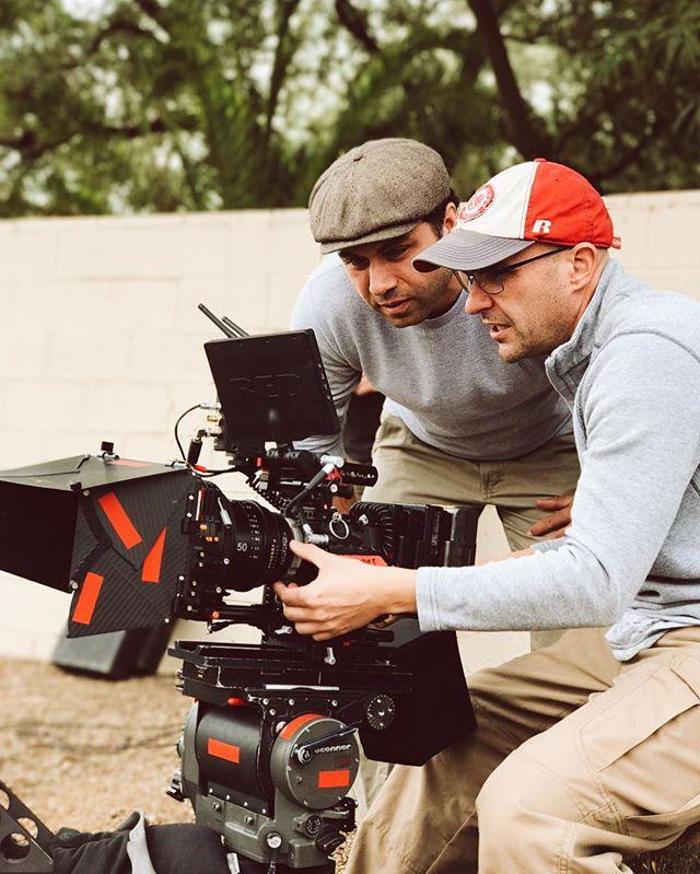 On set today with DP @level_image 🎥 . . . . #cameradept #cinematography #aerialcinematography #reddragon #redcinema #movies #commericals #setlife #setlifela #dji #inspire1 #inspire2 #smallhd #teradek #xeenprimes #mothershipimaging #antonbauer #brighttangerine #oconnor #filmmaking #drone #drones #droner #cameraassistant #1stac
