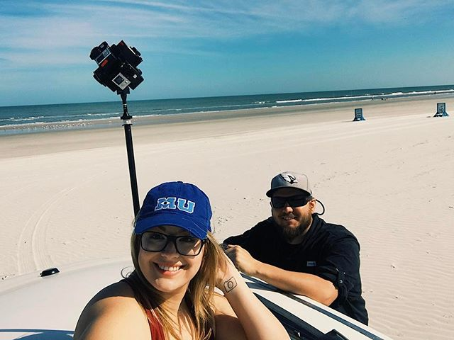 Creating some VR content here at New Smyrna beach where you can drive right on the sand! 🎥 . . . . . #vr360 #VR #virtualreality #videography #gopro #goprohero5 #goprohero4 #photography #cinematography #djiosmo #dji #smallhd #florida #newsmyrnabeach #daytonabeach #travel #travelblogger #tourism #drone #drones #droner #dronelife #setlife #setlifela