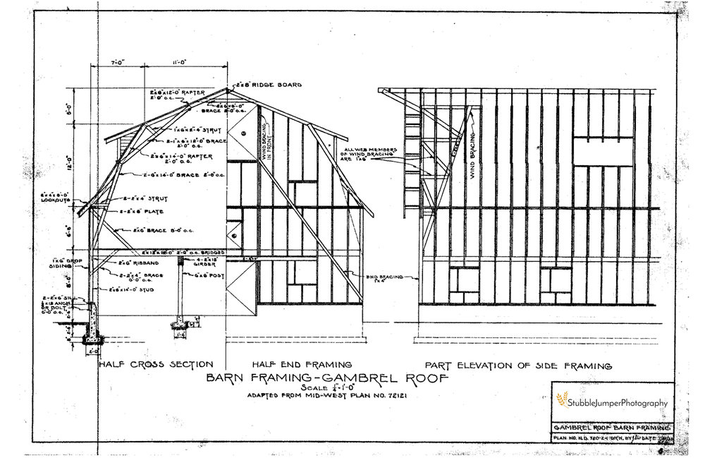 Gambrel Building Plans