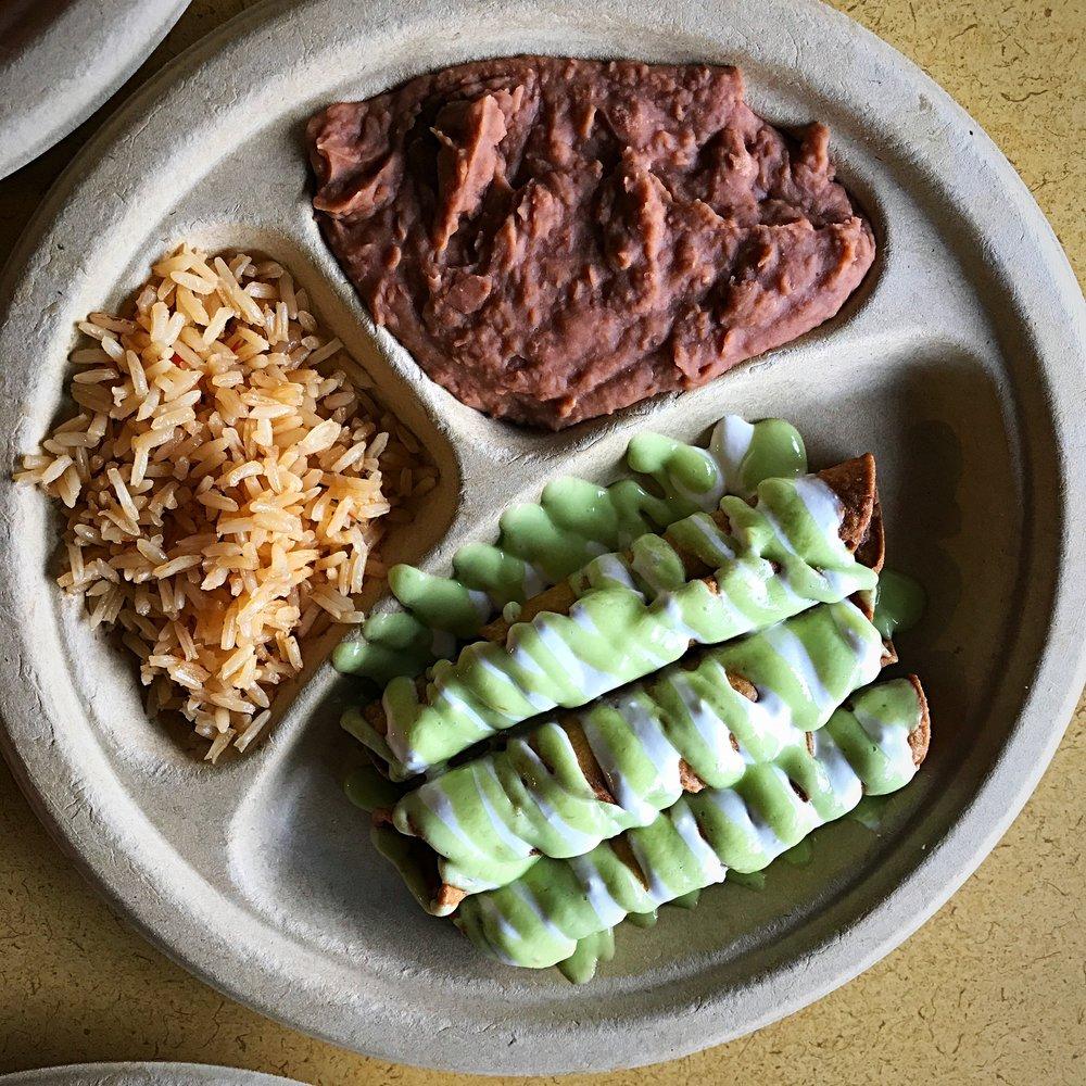 Vegan Flautas -El Palote Panaderia