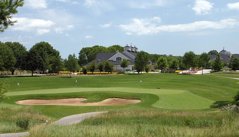 The practice green at The Bull at Pinehurst Farms, Sheboygan Falls, WI.