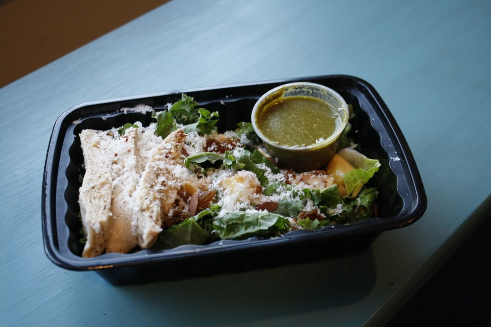 Romaine, Kale, and All-Natural, Free Range Chicken Salad