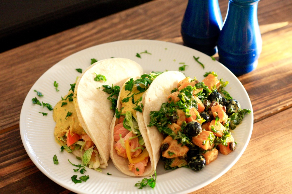 Chef Ivory's Salmon Curry Tacos