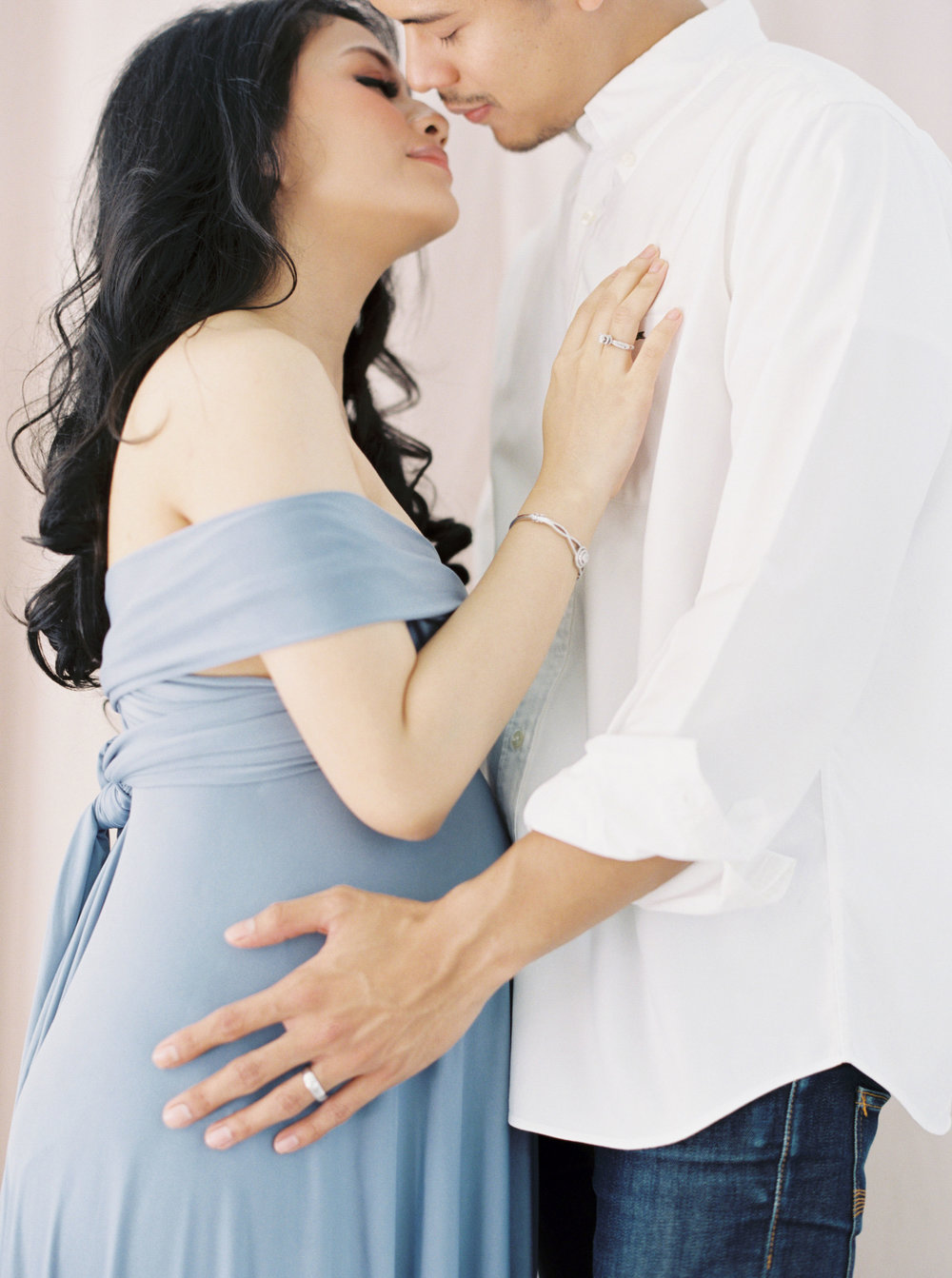 Romantic Elegant Couple Maternity Portrait - Studio June - Film Photography & Styling - Jakarta-48.jpg