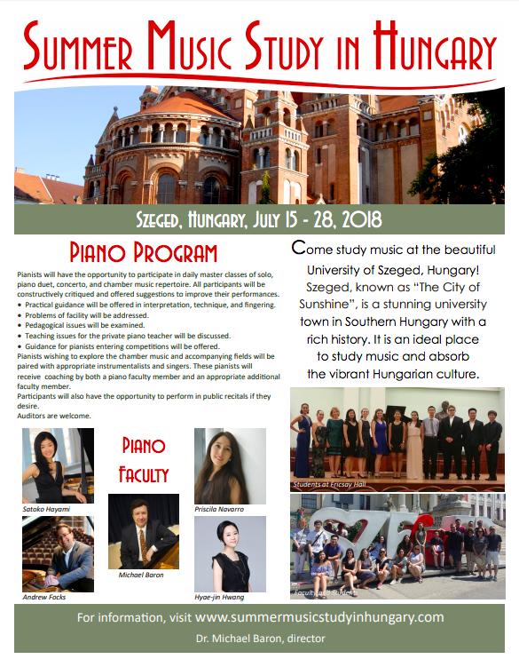 Hungary piano poster