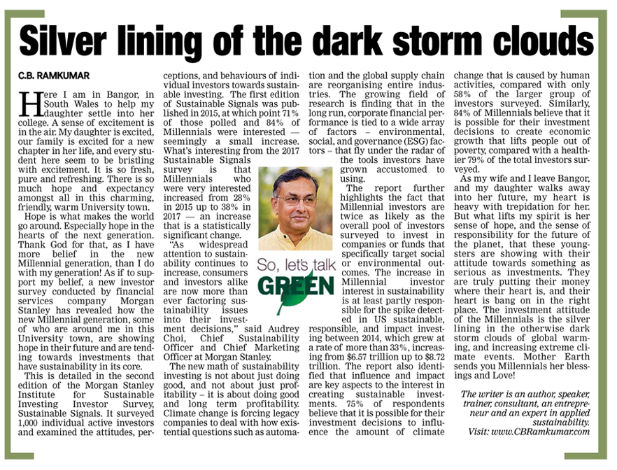 Deccan Chronicle 24 Sept 2017