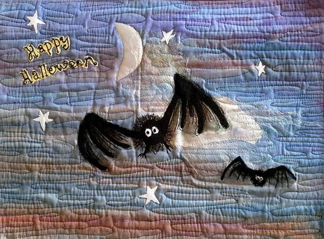 halloween bat quilt