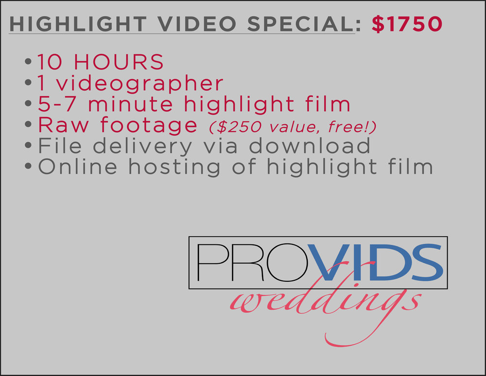 ProVids Weddings 2018 Pricing Highlight Only.jpg