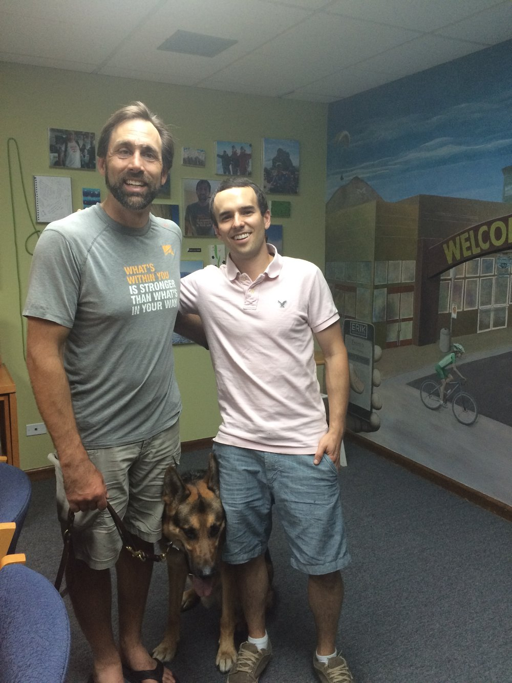 Erik and I at his office in Golden, Colorado.