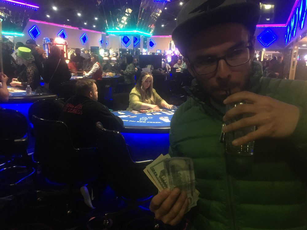 Of course the responsible thing to do when you lose your job is to double-down at the blackjack table. This time, Reno was kind to us after an insane day of fishing on Pyramid Lake.