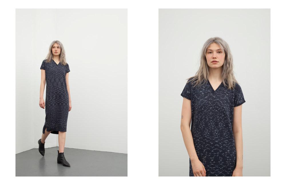 lydia dress: indigo