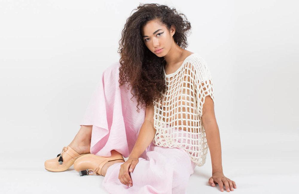jasmine pant: pink / poseidon top: white