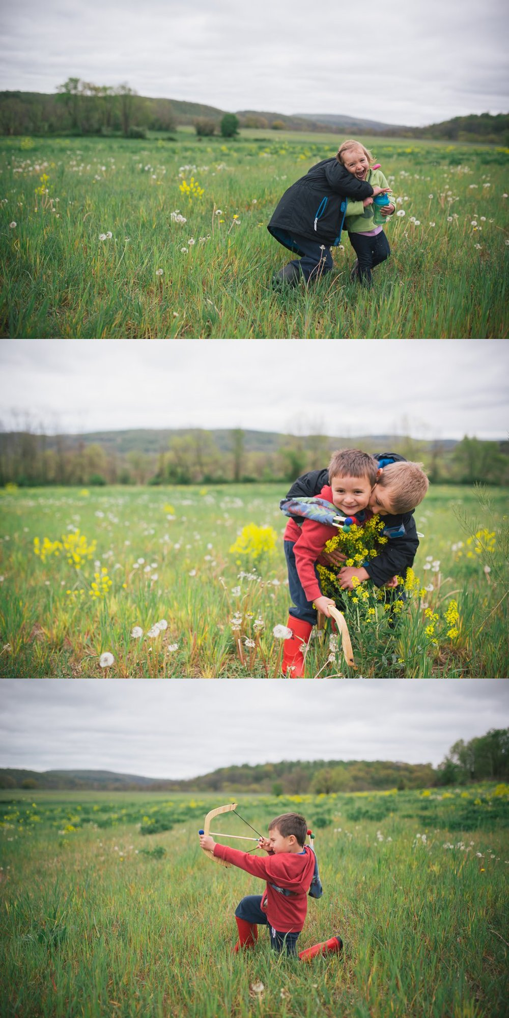 Romping in the fields of wildflowers. Our days are so so full.