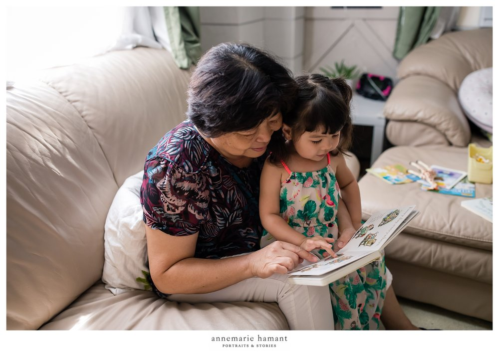 grandma reading to toddler