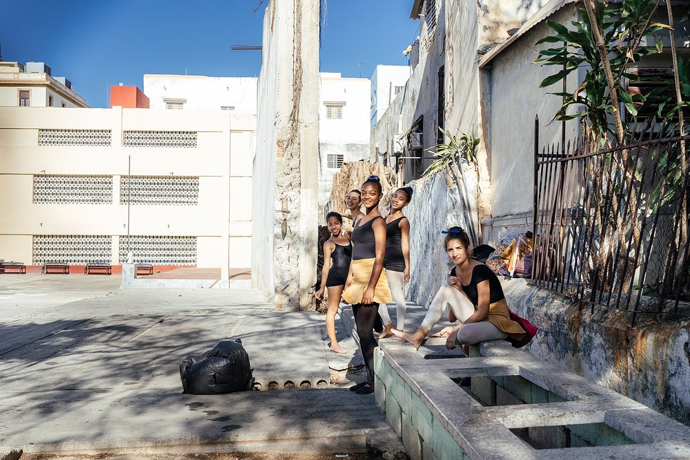 We stumbled upon these ballerinas in practicing in a concrete school yard in Vedado.