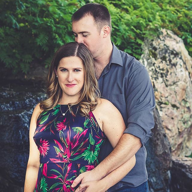 (2/3) // In less than one week these two love birds will be married! Can't wait to celebrate these two!! This photo is from the engagement photo shoot that I did with them last year @chicagobotanic .