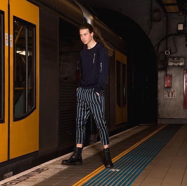 Trying to make Sydney trains look like the London Underground.  Photographer: @chrisquyen  Designer: @justincassin  Stylist: @itsmarcjames  Hair: @toniandguyau  Assist: @kazzhang @badgrlulu_ . . . . . #Seakyu  #igerssydney #sydneyfolk  #SonyAlpha #CanonAustralia  #thecreatorclass #createexploretakeover #way2ill #aovportraits #vscocam #watchthisinstagood #mobilemag #styling #agameoftones #quietthechaos #makeportraits #portraitgames #discoverportrait #500px #fashionphotography #modellife  #vogue #vogueitalia #photovogue #londonunderground