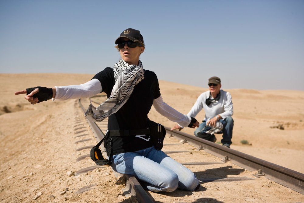"Kathryn Bigelow on the set of ""The Hurt Locker""; Johnathan Olley/Summit Entertainment"
